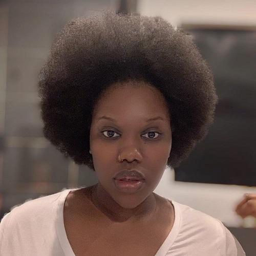 Gugu Gumede natural look