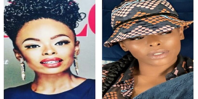Unathi Nkayi before and after